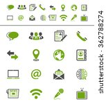 media and communication icons | Shutterstock .eps vector #362788274