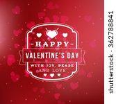 happy valentines day retro... | Shutterstock .eps vector #362788841