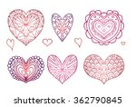 set of contours of the doodle... | Shutterstock .eps vector #362790845