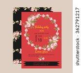 floral magnolia retro vintage...   Shutterstock .eps vector #362791217