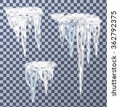 set of icicles different sizes  ... | Shutterstock .eps vector #362792375