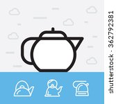 teapots. kettle vector icons. | Shutterstock .eps vector #362792381