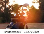 golf clubs in bag on course at... | Shutterstock . vector #362792525