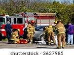emergency crew on the scene | Shutterstock . vector #3627985