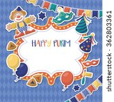 purim holiday banner design... | Shutterstock .eps vector #362803361