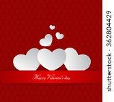 happy valentine's day background | Shutterstock .eps vector #362804429