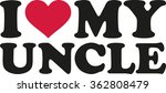 i love my uncle | Shutterstock .eps vector #362808479