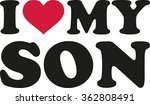 i heart my son | Shutterstock .eps vector #362808491