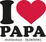 i love my dad german | Shutterstock .eps vector #362808581