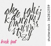 hand drawn font handwriting... | Shutterstock .eps vector #362812559