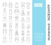 dresses and clothes. set with... | Shutterstock .eps vector #362816459
