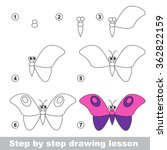 drawing tutorial. how to draw a ... | Shutterstock .eps vector #362822159