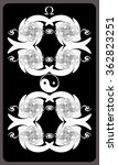 tarot cards   back design. ... | Shutterstock .eps vector #362823251