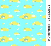 seamless pattern of clouds | Shutterstock .eps vector #362832821