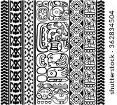 vector set of mayan and aztec... | Shutterstock .eps vector #362834504