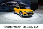 Small photo of DETROIT, MI/USA - JANUARY 12, 2016: Audi h-tron concept car at the North American International Auto Show (NAIAS), one of the most influential car shows in the world each year.
