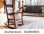wooden rocking chair on a porch ... | Shutterstock . vector #362844851
