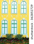 yellow walls with beautiful... | Shutterstock . vector #362852729