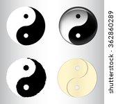 set of yin yang symbols... | Shutterstock .eps vector #362860289