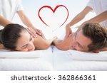 peaceful couple enjoying... | Shutterstock . vector #362866361
