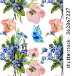 forget me not and tulips budget ... | Shutterstock . vector #362867237