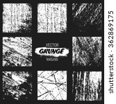 grunge textures for design or... | Shutterstock .eps vector #362869175