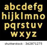 cute vintage golden glitter... | Shutterstock .eps vector #362871275
