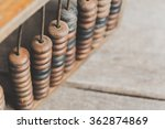 vintage abacus on wooden... | Shutterstock . vector #362874869