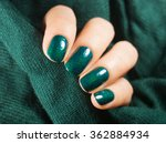 beautiful nail polish in hand ... | Shutterstock . vector #362884934