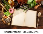 natural medicine. herbs ... | Shutterstock . vector #362887391