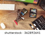 desktop shot of a modern... | Shutterstock . vector #362892641
