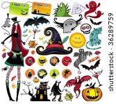huge halloween collection | Shutterstock .eps vector #36289759