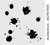 hand drawn drops of ink