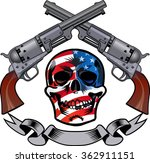 skull and revolver. tattoo of... | Shutterstock .eps vector #362911151