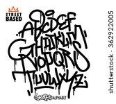 handlettering graffiti alphabet   Shutterstock .eps vector #362922005