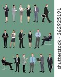 set of business people ... | Shutterstock .eps vector #362925191