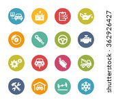 car service icons    fresh... | Shutterstock .eps vector #362926427