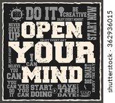 open your mind. creative... | Shutterstock .eps vector #362936015