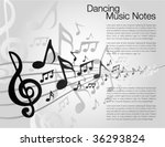 black and white music template | Shutterstock .eps vector #36293824