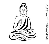 buddha in the lotus position....   Shutterstock .eps vector #362939519