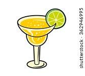 margarita cocktail. | Shutterstock .eps vector #362946995