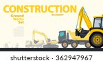 yellow typography set of ground ... | Shutterstock .eps vector #362947967