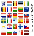 eu flags flat square icon set... | Shutterstock .eps vector #362948039