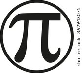 pi with circle | Shutterstock .eps vector #362948075