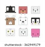 funny square polar animals icon ... | Shutterstock .eps vector #362949179