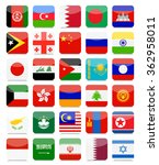 asian flags flat square icon... | Shutterstock .eps vector #362958011