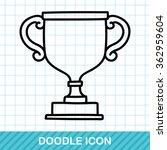 trophy doodle | Shutterstock .eps vector #362959604