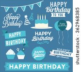 Happy Birthday Vector Set  ...