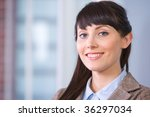 business woman portrait in... | Shutterstock . vector #36297034