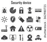 security device icons set. | Shutterstock .eps vector #362980721
